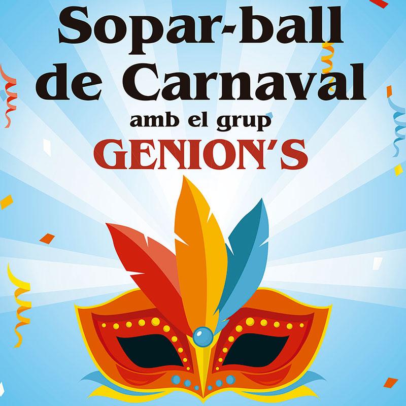 Cena y baile de carnaval a Can Xel